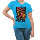 David Bowie Strike a Pose Turquoise Women's T-Shirt