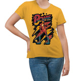 David Bowie Strike a Pose Yellow Women's T-Shirt