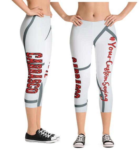 Say Hello to Personalized Volleyball Capri Leggings!