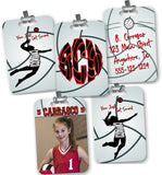 Customized Volleyball Bag Tag - 2-Sided - Rectangle