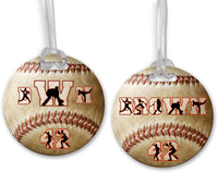Custom Personalized Baseball Bag Tags - 2-Sided - 4 In. Round - Text and Photo Designs
