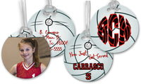 Customized Volleyball Bag Tags - 2-Sided - 4 In. Round