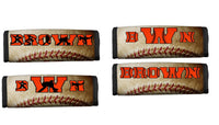 Custom Personalized Sports Bag Handle Wrap- Baseball - Premium Fonts Available in Team Colors