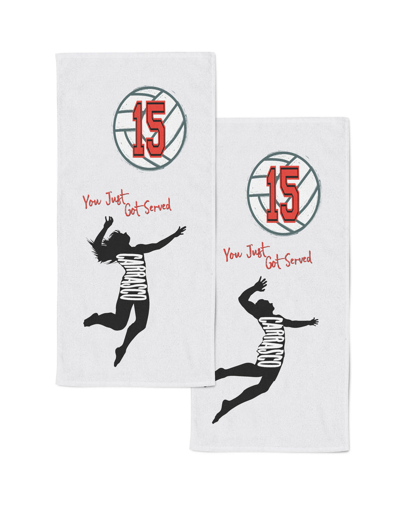 Customized Sports Cooling Towel - Volleyball Player Designs