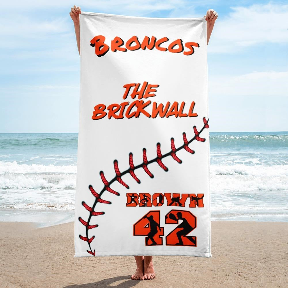 Personalized Baseball Beach Towel