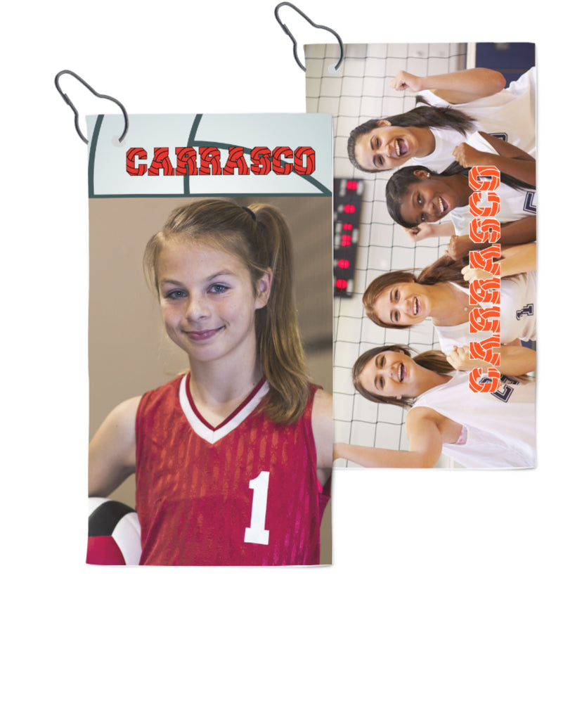Personalized Photo Volleyball Towel With Clip