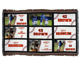 Personalized Baseball Photo Blanket - 9 Panel Throw - Custom Colors - Customize Each Panel