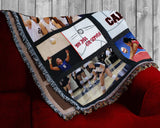 Customized Photo 9 Panel Throw Blanket - Volleyball Design