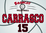 Personalized Throw Blanket - Volleyball Design (Add Your Text)