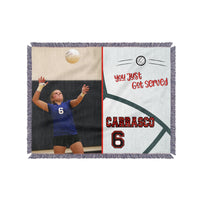 Personalized Photo Volleyball Blanket - Several Color/Design Choices