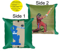 Personalized Cricket Throw Pillow - Custom Cricket Gift - Photo Pillow -2-sided - Custom Text -Mens Boys Birthday Gift