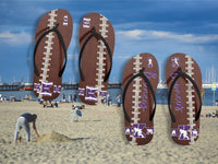 Custom Personalized Football Flip Flops