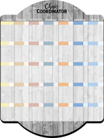 Chaos Coordinator Family Calendar Dry Erase Board with Icon Clings - Dry Erase