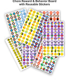 Chore Reward & Behavior Chart - Reusable Cling Stickers - Personalized Sports Designs