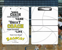 Custom Clipboard For Coach Gift - Sports Designs - Dry Erase Board