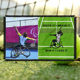 Personalized Wheelchair Tennis Photo Blanket - Mens Wheelchair Tennis Blanket - Custom Tennis Blanket - Wheelchair Tennis Throw