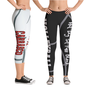 Custom Volleyball Leggings - Gorgeous - Your Text - Choose Colors - Personalized Leggings Full Length or Capri - Premium Volleyball Font