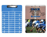 Football Clipboard for Coach - Coach Gift, Add Name, Select Colors - Dry Erase Board
