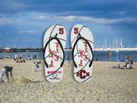 Custom Personalized Volleyball Flip Flops