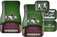 Personalized Football Car Floor Mat Set - Custom Options