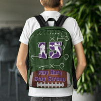 Personalized Football Backpack - Custom Colors