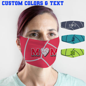 Custom Face Cover - Sports Designs Add Text, Select Colors - Washable and Reusable