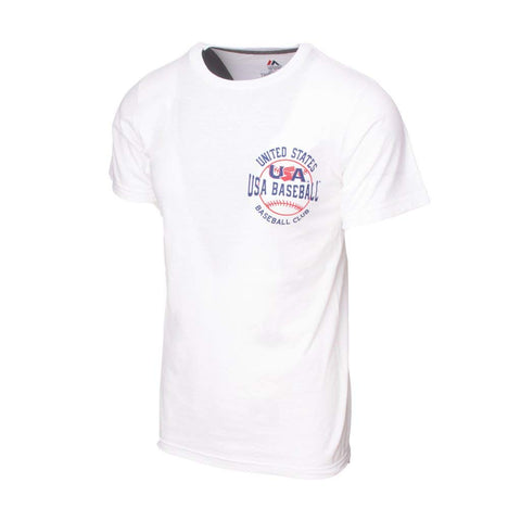 Majestic USA Baseball White Wave The Pennant Tee (M)