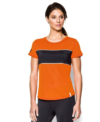 Under Armour Women's Tough Mudder UA Fly Fast Mesh Short Sleeve (XS)
