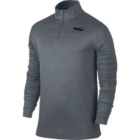 Nike Lacrosse Men's Gray Dri-Fit 1/4 Zip Pullover (XL)