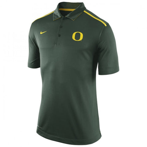 "Oregon Ducks ""O"" Nike Dri-Fit Elite Coaches Green Polo Shirt (Small)"