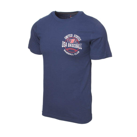 Majestic USA Baseball Navy Wave The Pennant Tee (M)