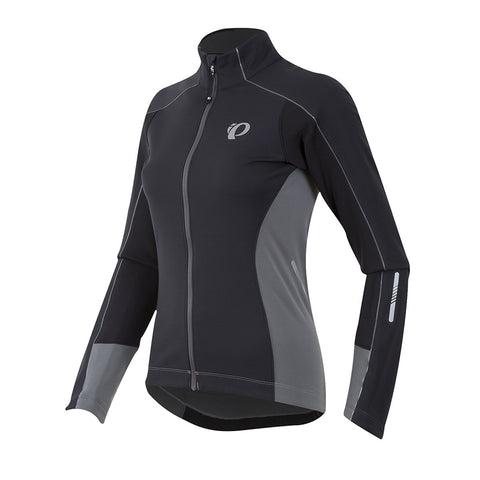 Pearl Izumi - Ride Women's Elite Pursuit Softshell Jacket, Black/Smoked Pearl, X-Large