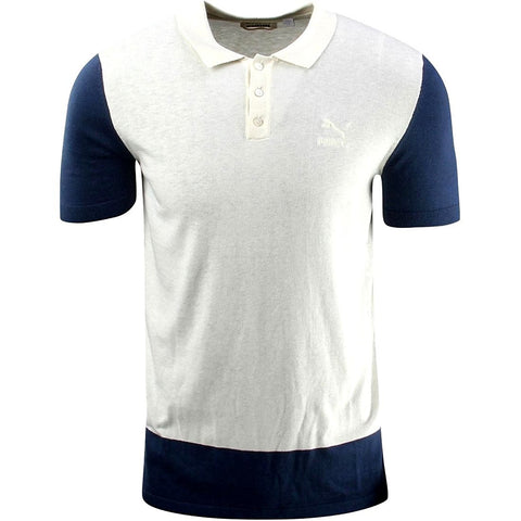 Puma Men's Color Block Knit Polo (XL)