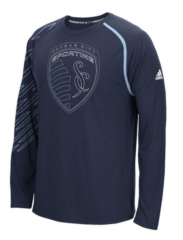 "Sporting Kansas City Adidas MLS ""Frequency"" Performance Long Sleeve Jersey Top (2XL)"