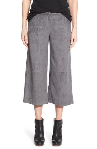 Vince Camuto Womens Faux Suede Wide Leg Culottes (Size 2)