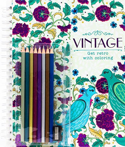 Vintage: Get Retro with Coloring (with Pencils) (Coloring + Pencils) by Parragon Books Ltd (2016-11-08)