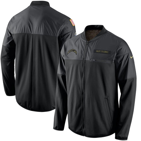 Los Angeles Chargers Nike Salute to Service Hybrid Performance Jacket - Black (Medium)