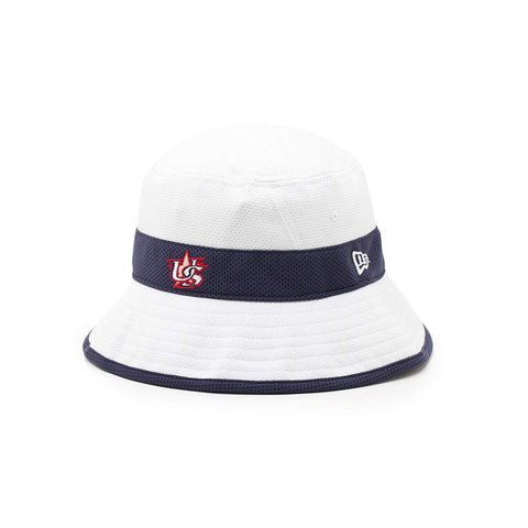 New Era USA Baseball Navy Strip Bucket Hat