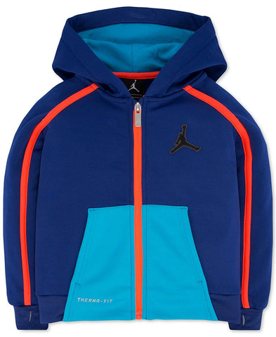 Jordan Boys Victory Zip Colorblocked Hoodie Deep Royal (XL)