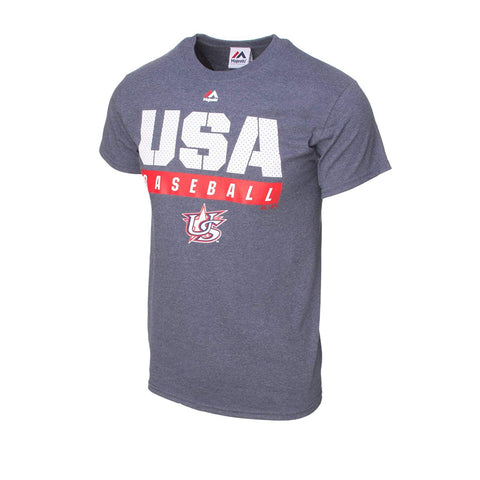 Majestic USA Baseball Proven Pastime Tee (Small)