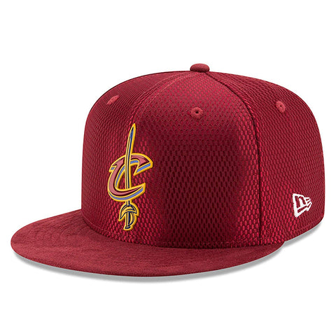 f025e4f4 Cleveland Cavaliers Red 59FIFTY 2017 NBA Draft On Court Collection Fitted  Hat