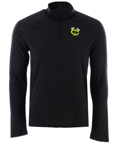 adidas Chicago Blackhawks Secondary Logo Climatelite Quarter-Zip Pullover (M)