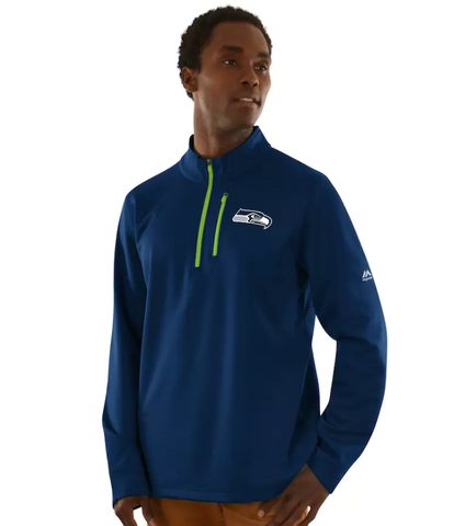 Seattle Seahawks Majestic Across the Scoreboard 1/4 Zip Pullover
