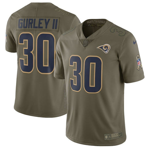 Todd Gurley II Los Angeles Rams Salute To Service Women's Jersey (Large)