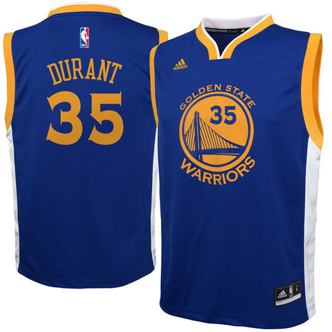 Kevin Durant Adidas Golden State Warriors Stadium Youth Road Jersey