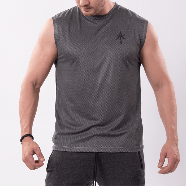 AT Men's performance Top gray