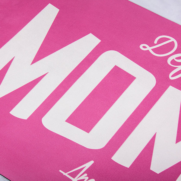Define Your Moment Pink Suede microfiber mat