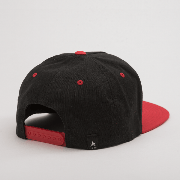 BEASTIN 5 Panel Snap Back Black & Red