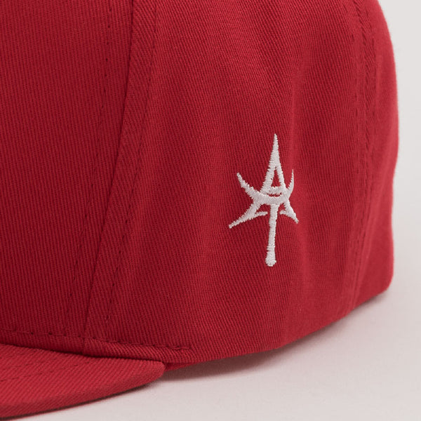 SOLID 5 Panel Snap back Red