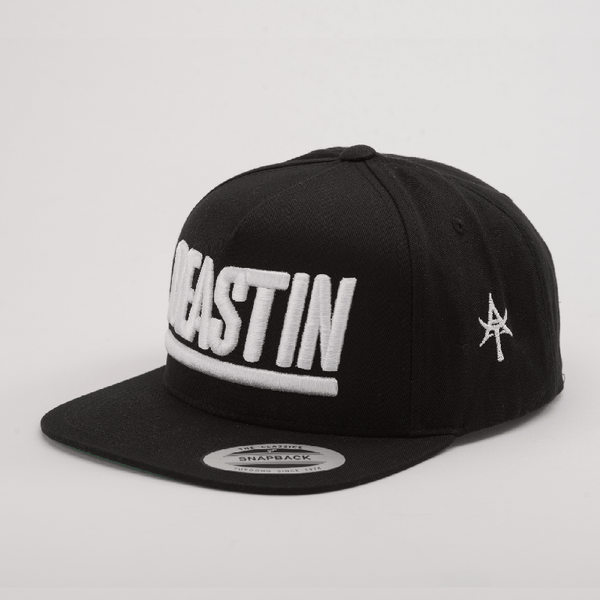 BEASTIN 5 Panel Snap Back Black & White